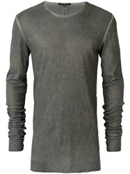 Unconditional Ribbed Crew Neck Top Grey