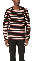 Levi's Long Sleeve Tee Red Black Warm White
