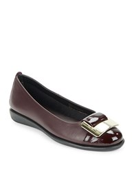 The Flexx Rise N Curry Leather Flats Purple