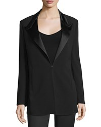 Cnc Costume National Peaked Lapel Slim Fit Jacket Black Women's