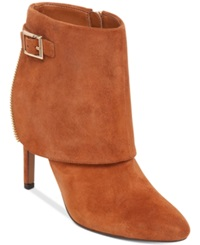 Jessica Simpson Dyers Cuffed Dress Booties Women's Shoes Autumn Umber Suede