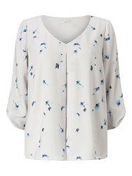Jacques Vert Dragon Fly Blouse Grey