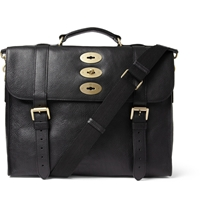Mulberry Ted Convertible Leather Messenger Bag Black