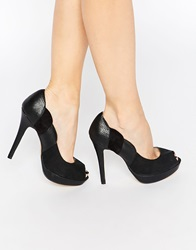 Little Mistress Platform Heeled Shoes Black