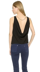 Air By Alice Olivia Back Cowl Top Black