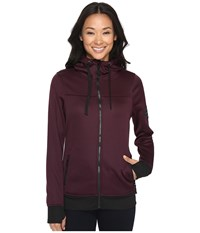 686 Ella Bonded Zip Fleece Hoodie Black Ruby Women's Sweatshirt