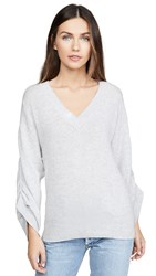 Brochu Walker Danya Vee Cashmere Sweater Mist Grey Melange