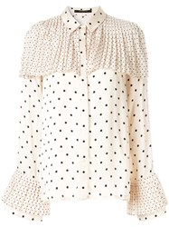Mother Of Pearl Polka Dot Blouse Neutrals