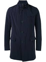 Herno Button Up Trench Coat Black