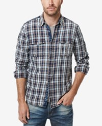Buffalo David Bitton Men's Sassire Plaid Graphic Print Logo Shirt Whale