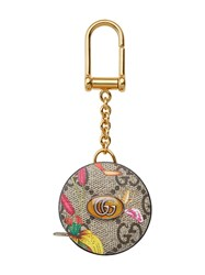 Gucci Gg Blooms Tape Measure Keyring 60