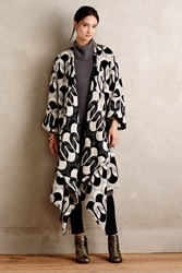 Tracy Reese Deveren Blanket Coat Black Motif