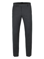 Ben Sherman Men's Charcoal Flannel Check Camden Trousers Charcoal