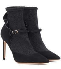 Sophia Webster Lucia Suede Ankle Boots Black