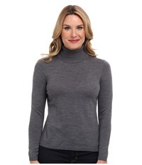 Pendleton Classic Turtleneck Sweater Grey Heather Women's Long Sleeve Pullover Gray