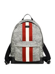 Bally Racing Striped Nylon Backpack Multi