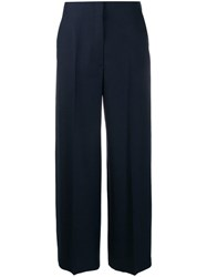 The Row Colour Block Wide Leg Trousers Blue