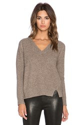 Mason By Michelle Mason V Neck Sweater Taupe