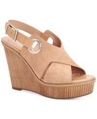 Bcbgeneration Penelope Wedge Sandals Women's Shoes Nude