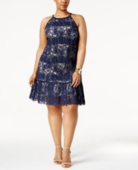 Alfani Plus Size Lace Halter Dress Only At Macy's Navy Nautical