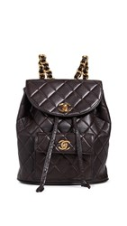 Wgaca What Goes Around Comes Around Chanel Classic Backpack Brown