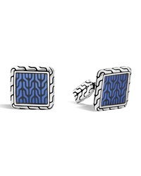 Blue Enamel Square Cuff Links John Hardy
