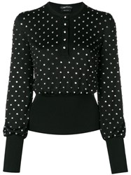 Tom Ford Embellished Knitted Top Black