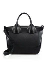 Christian Louboutin Eloise Large Studded Leather Tote White Black
