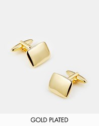 Asos Gold Plated Cufflinks Gold