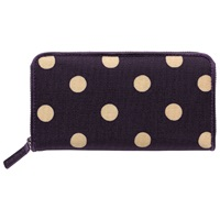 Cath Kidston Zipped Wallet Grape
