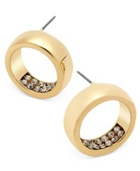Thalia Sodi Gold Tone Pave Circle Stud Earrings Only At Macy's