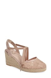 Adrianna Papell Women's 'Penny' Sandal Blush Lace