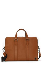 Vince Camuto Dopia Leather Briefcase Brown British Tan