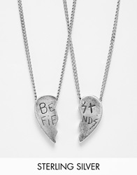 Unif Helter Skelter White Bronze Best Feinds Necklace Silver