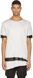 Pyer Moss Grey And Black Leather Leeloo T Shirt