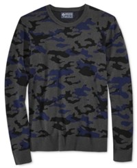 American Rag Men's Camo Print Sweater Only At Macy's Basic Navy
