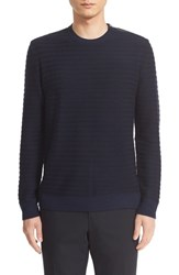 The Kooples Men's Shoulder Zip Stripe Merino Wool Pullover