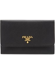 Prada Leather Card Holder Black