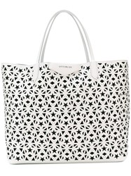 Givenchy Star Perforated Tote Women Calf Leather One Size White