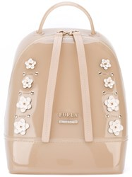 Furla Embellished Backpack Women Pvc Leather One Size Nude Neutrals