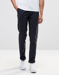 Pull And Bear Pullandbear Stretch Slim Fit Chinos In Navy Navy Blue