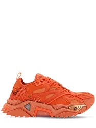 Calvin Klein 205W39nyc Strike 205 Chunky Leather Sneakers Carrot
