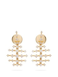 Fernando Jorge Mini Disco 18Kt Gold And Diamond Earrings
