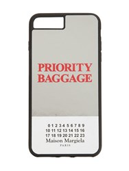 Maison Martin Margiela Priority Baggage Iphone 8 Plus Cover Silver