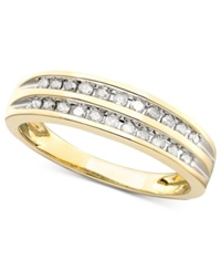 Macy's Channel Set Diamond Band Ring In 10K Gold 1 5 Ct. T.W.