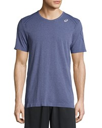 Asics Seamless Short Sleeve Shirt True Navy