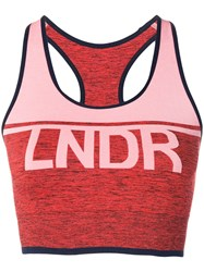 Lndr A Team Logo Crop Top Orange