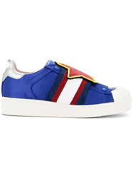 Moa Master Of Arts Embellished Star Sneakers Blue