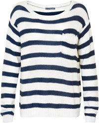 Soaked In Luxury Striped Pocket Jumper Multi Coloured