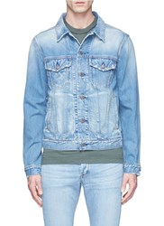 Simon Miller Distressed Denim Jacket Blue